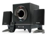 Новинка: оригинальная настольная мультимедийная акустика 2+1 с технологией Bluetooth SVEN АС MS-350BL - чёрный, акустическая система 2.1, мощность RMS 18 Вт, Bluetooth, диcплей, ПДУ